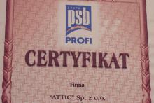 certyfikat grupa polskie składy budowlane attic składy budowlane