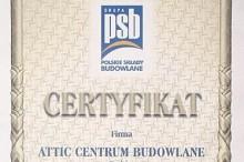 certyfikat polskie składy budowlane attic centrum budowlane