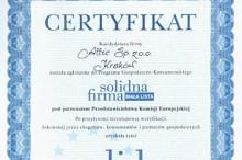 certyfikat solidna firma 2004 skład budowlane attic