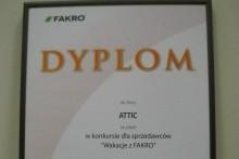 dyplom fakro attic centrum budowlane