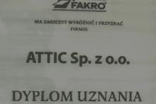 dyplom uznania fakro attic składy budowlane