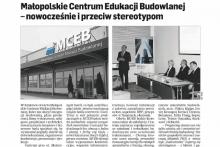 Małopolskie Centrum Edukacji MCEB Dziennik Polski Centrum Budowlane Attic