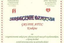podziękowanie aukcja prac plastycznych specjalistyczna placówka wychowawcza attic