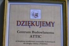 podziękowanie materiały budowlane Dzieło Pomocy Św. Ojca Pio attic składy budowlane